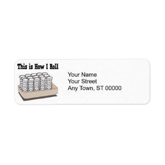 How I Roll Hair Curlers Return Address Labels