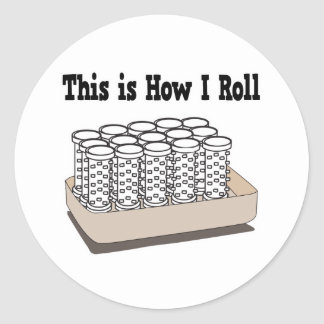 How I Roll Hair Curlers Sticker