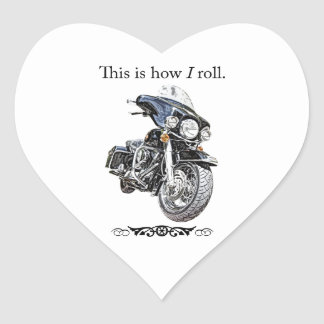 How I Roll Heart Sticker