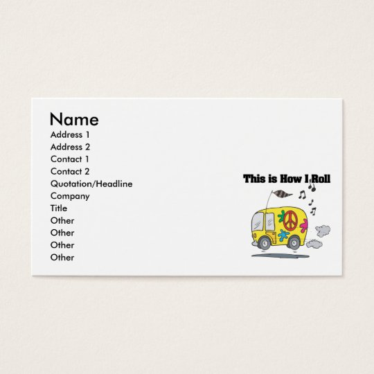 How I Roll (Hippie Van) Business Card