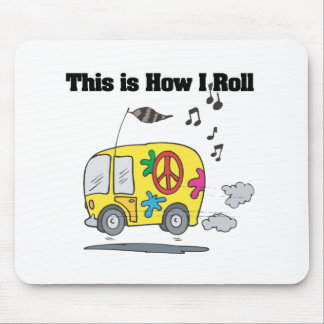 How I Roll (Hippie Van) Mouse Pad