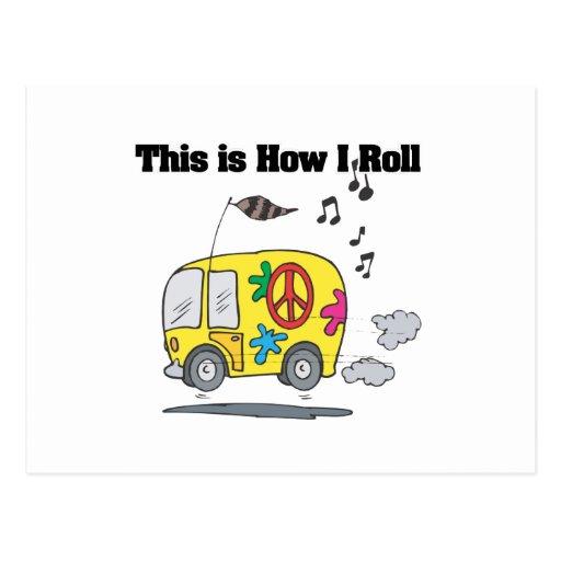 How I Roll (Hippie Van) Postcard