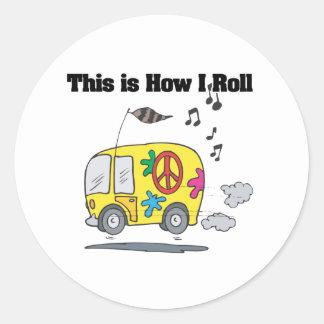 How I Roll (Hippie Van) Sticker