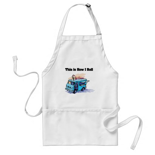 How I Roll (Ice Cream Truck) Adult Apron