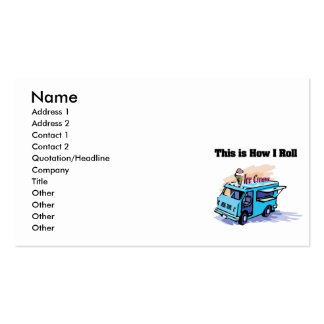 How I Roll (Ice Cream Truck) Business Cards