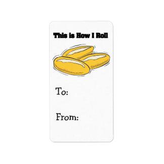 How I Roll (Italian Bread Rolls) Label