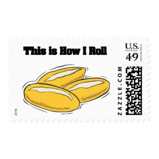 How I Roll (Italian Bread Rolls) Postage Stamp