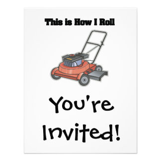 How I Roll Lawn Mover Personalized Invitations