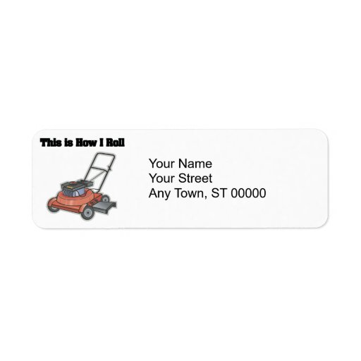 How I Roll (Lawn Mover) Custom Return Address Labels