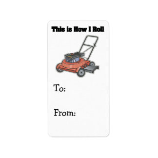 How I Roll (Lawn Mover) Label