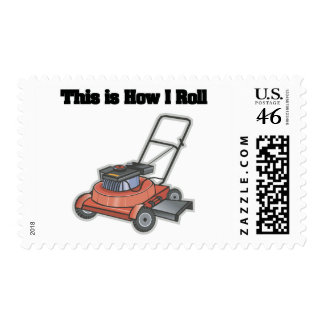 How I Roll Lawn Mover Stamps