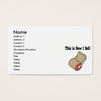 How I Roll Mail Packing Tape Business Card