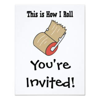 How I Roll Mail Packing Tape 4.25x5.5 Paper Invitation Card