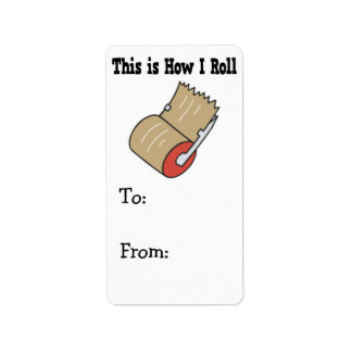 How I Roll Mail Packing Tape Label