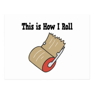 How I Roll Mail Packing Tape Postcard