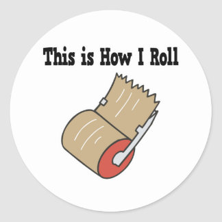 How I Roll Mail Packing Tape Round Sticker