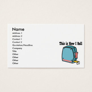 How I Roll Measuring Tape Business Card