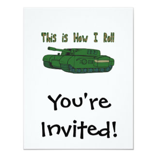 How I Roll (Military Tank) Card
