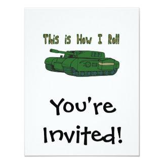 How I Roll (Military Tank) 4.25x5.5 Paper Invitation Card
