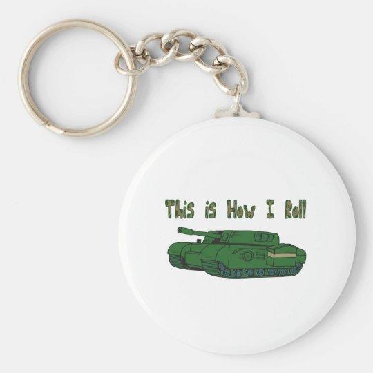 How I Roll (Military Tank) Keychain