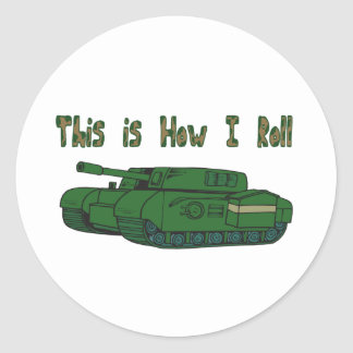 How I Roll (Military Tank) Sticker