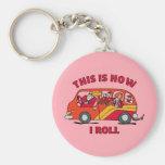 How I Roll Mom Minivan Key Chains