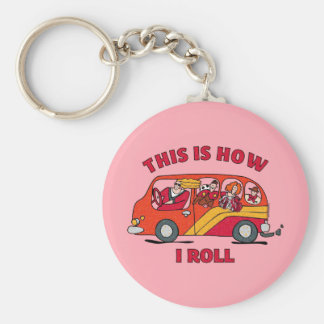 How I Roll Mom Minivan Keychain