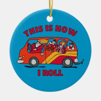 How I Roll Mom Minivan Ornament