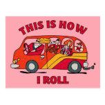 How I Roll Mom Minivan Post Cards