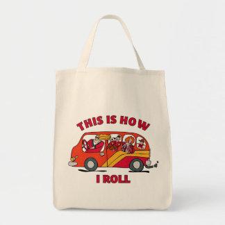 How I Roll Mom Minivan Tote Bag