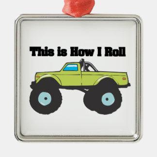 How I Roll Monster Truck Ornament