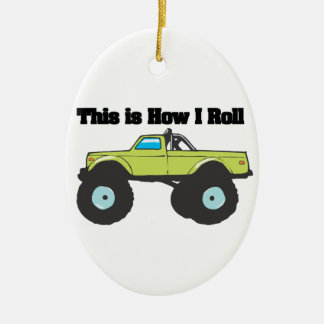 How I Roll Monster Truck Ornaments