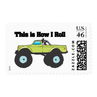 How I Roll Monster Truck Stamp