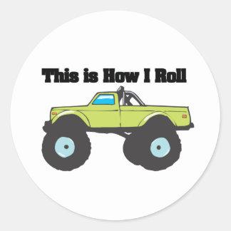 How I Roll (Monster Truck) Sticker