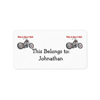 How I Roll (Motorcycle) Address Label