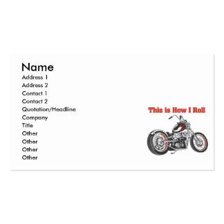 How I Roll (Motorcycle) Business Card Template