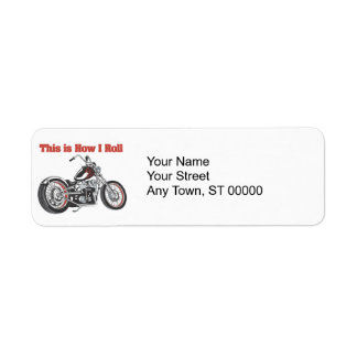 How I Roll (Motorcycle) Return Address Label