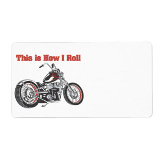 How I Roll (Motorcycle) Shipping Label