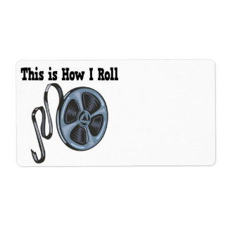 How I Roll Movie Film Tape Custom Shipping Label