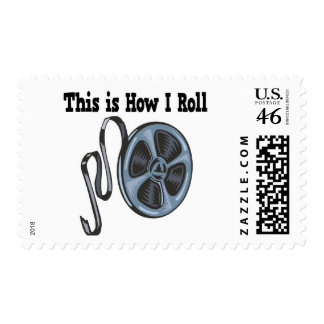 How I Roll Movie Film Tape Stamp