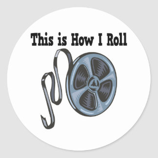 How I Roll Movie Film Tape Round Stickers