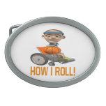 How I Roll Oval Belt Buckle