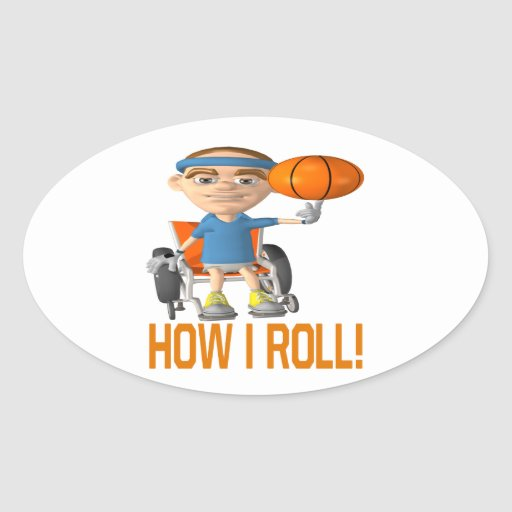 How I Roll Oval Sticker