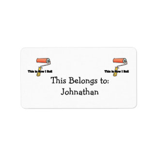 How I Roll (Paint Roller) Personalized Address Labels
