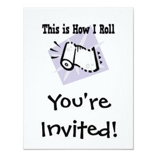 How I Roll Paper Towels 4.25x5.5 Paper Invitation Card