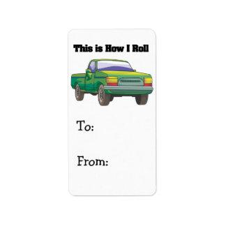 How I Roll (Pickup Truck) Label