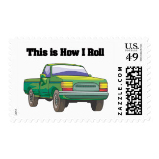 How I Roll (Pickup Truck) Stamp