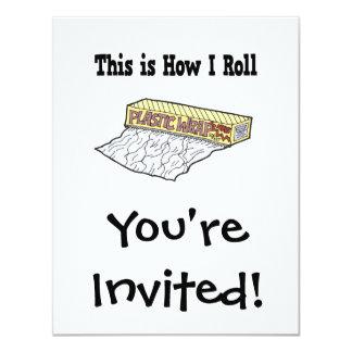 How I Roll Plastic Wrap Custom Invitations