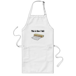 How I Roll Plastic Wrap Long Apron