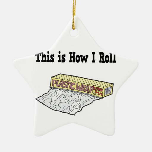 How I Roll Plastic Wrap Double-Sided Star Ceramic Christmas Ornament